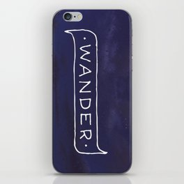Not all those who wander are lost // #TravelSeries iPhone Skin