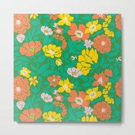 Leaf and Bloom Metal Print