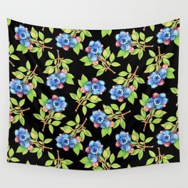 Wild Blueberry Sprigs Wall Tapestry