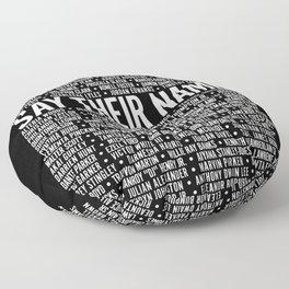 Say Their Names Activist Floor Pillow