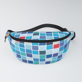 Colorful blue mosaic Fanny Pack