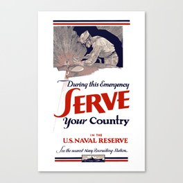 Serve Your Country In The Naval Reserve  Canvas Print