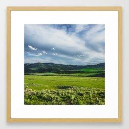 Lamar Valley, Yellowstone National Park Framed Art Print
