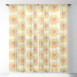 Marigold Mandala Sheer Curtain
