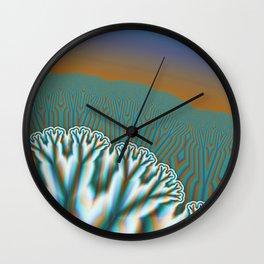Fractal Forest Abstract Art Wall Clock