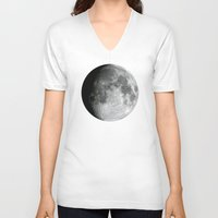 the moon V-neck T-shirts featuring Moon by Alejandro de Antonio Fernández