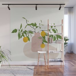 Lemon Branches Wall Mural