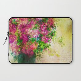 Roses and Wildflowers in Mason Jar Laptop Sleeve