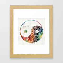 Yin And Yang - Colorful Peace - By Sharon Cummings Framed Art Print