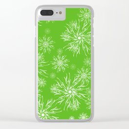 Snow flakes Clear iPhone Case