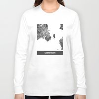 copenhagen Long Sleeve T-shirts featuring Copenhagen by Map Map Maps
