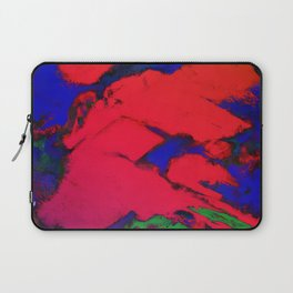 Red erosion Laptop Sleeve
