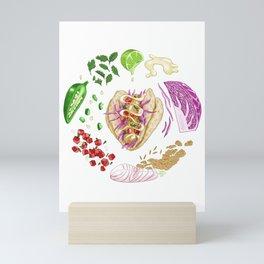 Fish Taco Diagram Mini Art Print