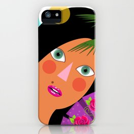 Leila is having fun iPhone Case