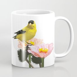 Goldfinch in the Garden Coffee Mug