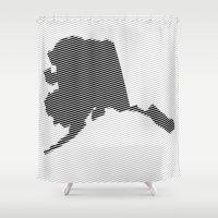 alaska Shower Curtains featuring Alaska Line by Beastie Toyz