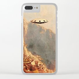 Flying Saucer - Machu Picchu Clear iPhone Case