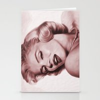 marilyn Stationery Cards featuring Marilyn  by Jason Michael
