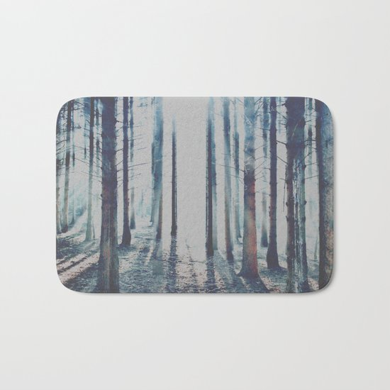 Watercolor Forest Bath Mat