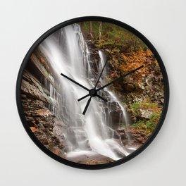Autumn Ganoga Falls Wall Clock