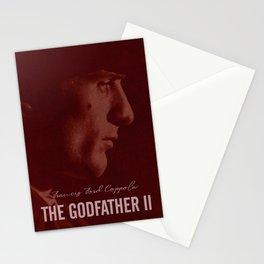 The Godfather Part II, Robert De Niro, Al Pacino, American movie poster Stationery Cards