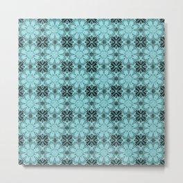 Island Paradise Floral Geometric Metal Print