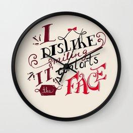 Lizzie Bennet Diaries-I Dislike Smiling Wall Clock