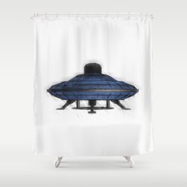 Retro UFO Shower Curtain