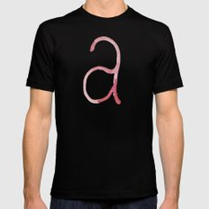 a is for... Mens Fitted Tee Black MEDIUM
