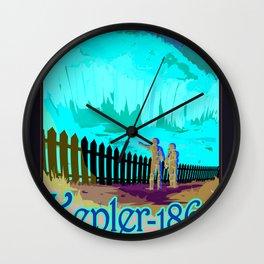 Kepler-186f - NASA Space Travel Poster (Alt) Wall Clock