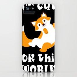 Cute Fox Red Fox iPhone Case