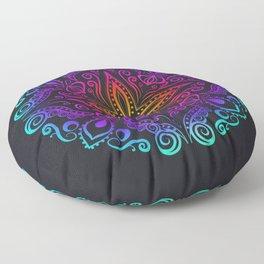 Mandala colorful Floor Pillow