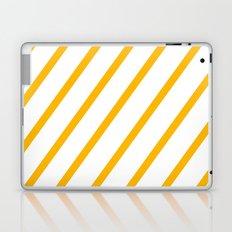 Yellow summer stripes Laptop & iPad Skin