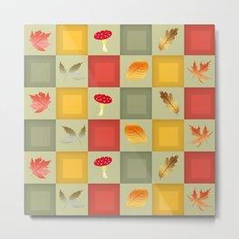AutumnChessboard Metal Print