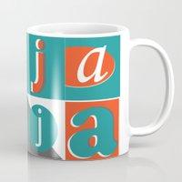typo Mugs featuring Bajaja Typo by Bajaja