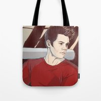 stiles Tote Bags featuring stiles by kala
