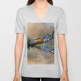Spitfire Dawn Flight Unisex V-Neck