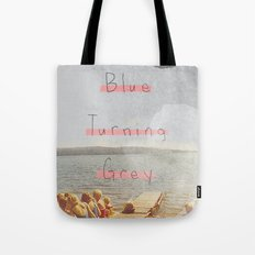 Blue Turning Grey | Collage Tote Bag