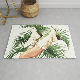 These Boots - Palm Leaves Rug