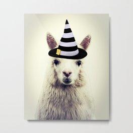 Halloween Alpaca Metal Print