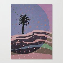 Autumnal Air around the Palm Tree Canvas Print