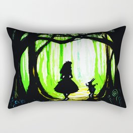 alice and rabbits Rectangular Pillow