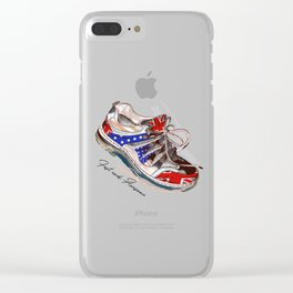 Fashion illustration with sport boots. Trendy design Clear iPhone Case