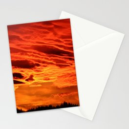 Flame Coloured Sunset Sky Stationery Cards