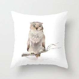 Who-who? Throw Pillow