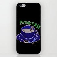 breakfast iPhone & iPod Skins featuring BREAKFAST by Gianluca Floris
