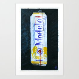 "Modelo Especial (2010), 17"" x 27"", acrylic on gesso on chipboard Art Print"