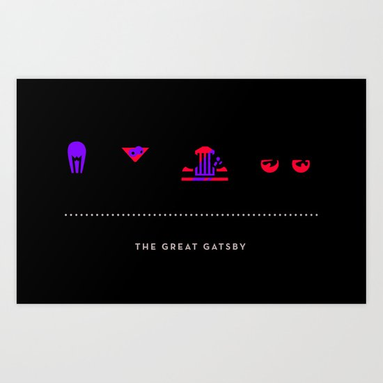 The Great Gatsby, Four Icon Challenge Art Print
