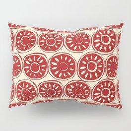 flower block red ivory Pillow Sham