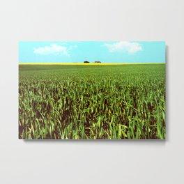 High Plains Crop Metal Print